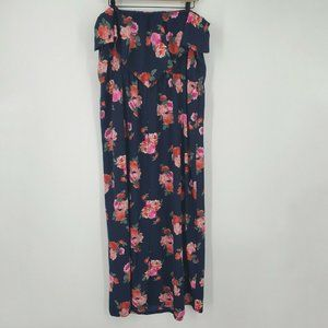 Emerald NWT Strapless Sleeveless Floral Maxi Dress